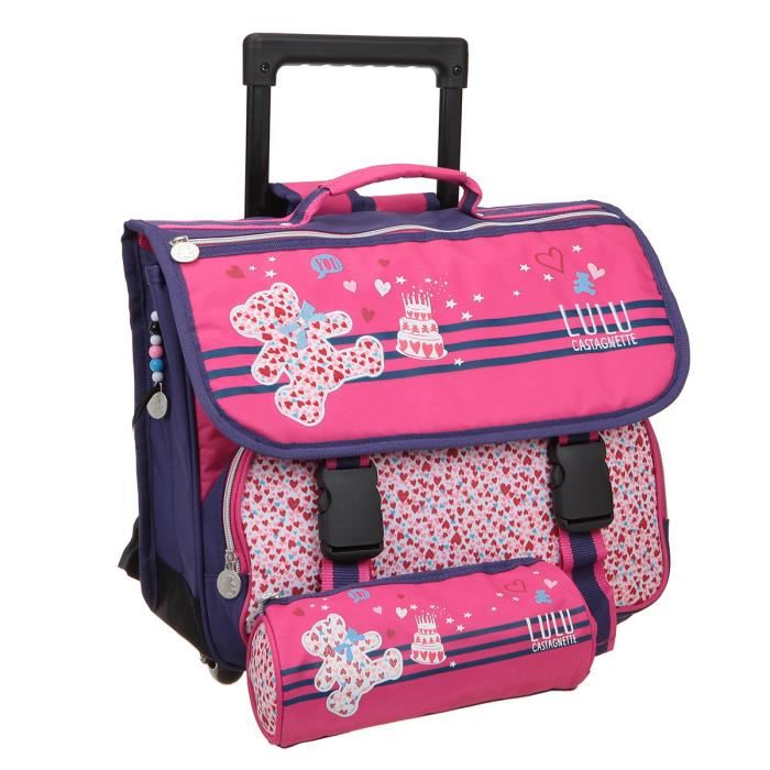 cartable fille a roulette