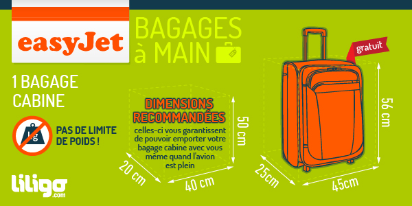dimension bagage à main easyjet