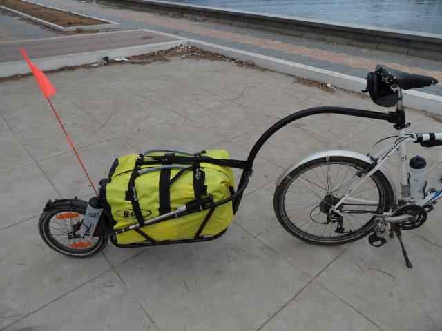 remorque pour vélo décathlon
