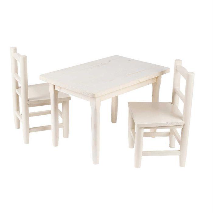 table avec chaise pour enfant