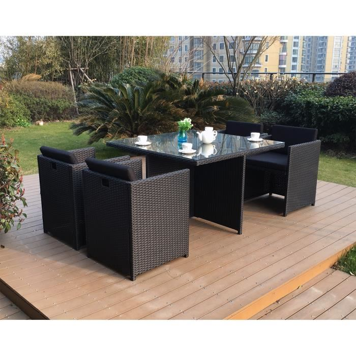 table de jardin resine