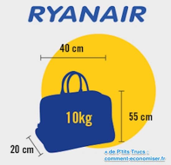 taille bagage à main ryanair