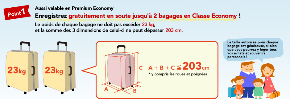 taille bagage soute