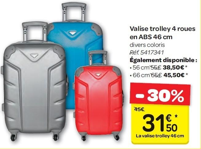 valise en promo