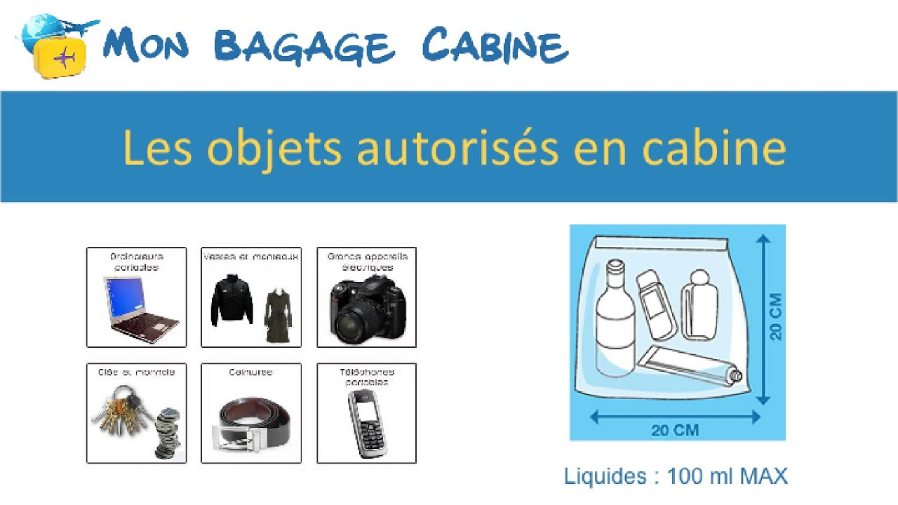 bagage autorisé en cabine avion