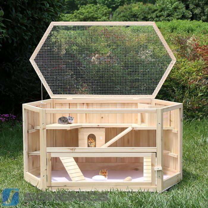 cage cochon d inde bois
