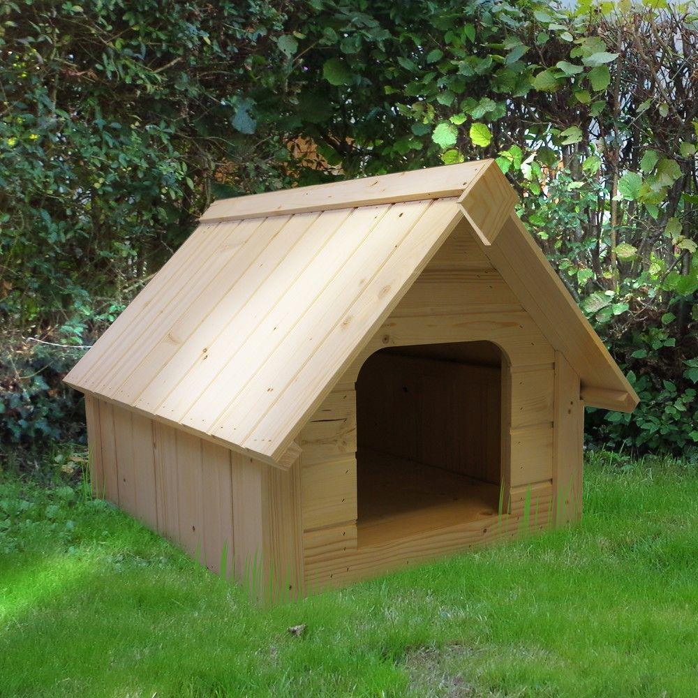 maison de chien en bois