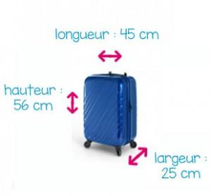 taille d une valise cabine