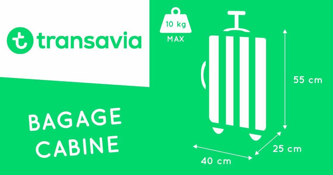 transavia taille bagage cabine