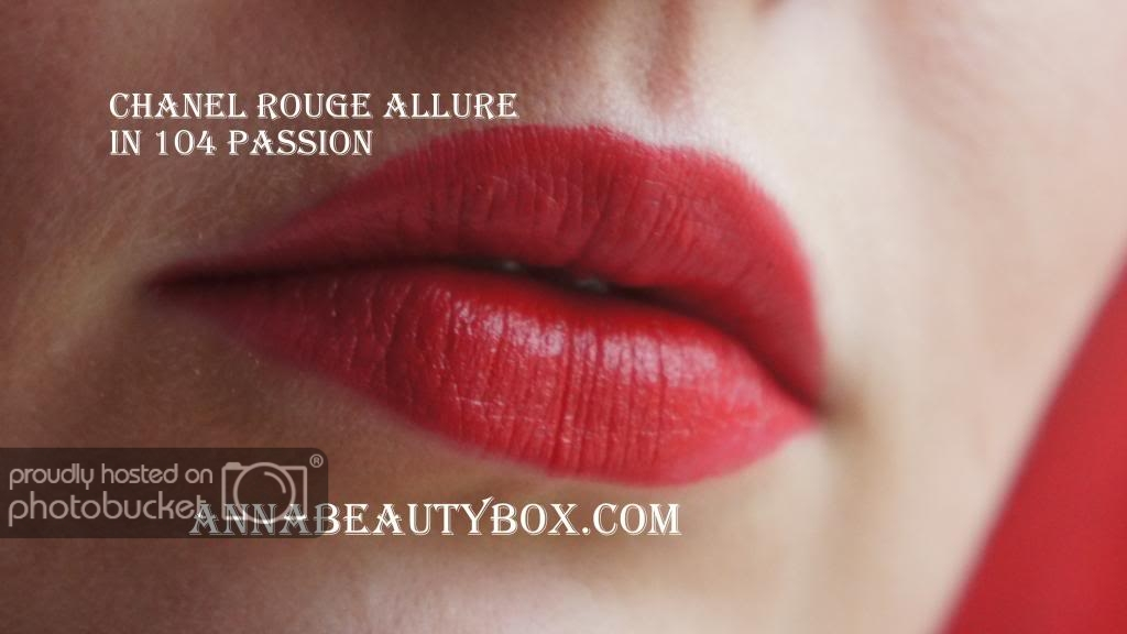 chanel rouge allure passion 104