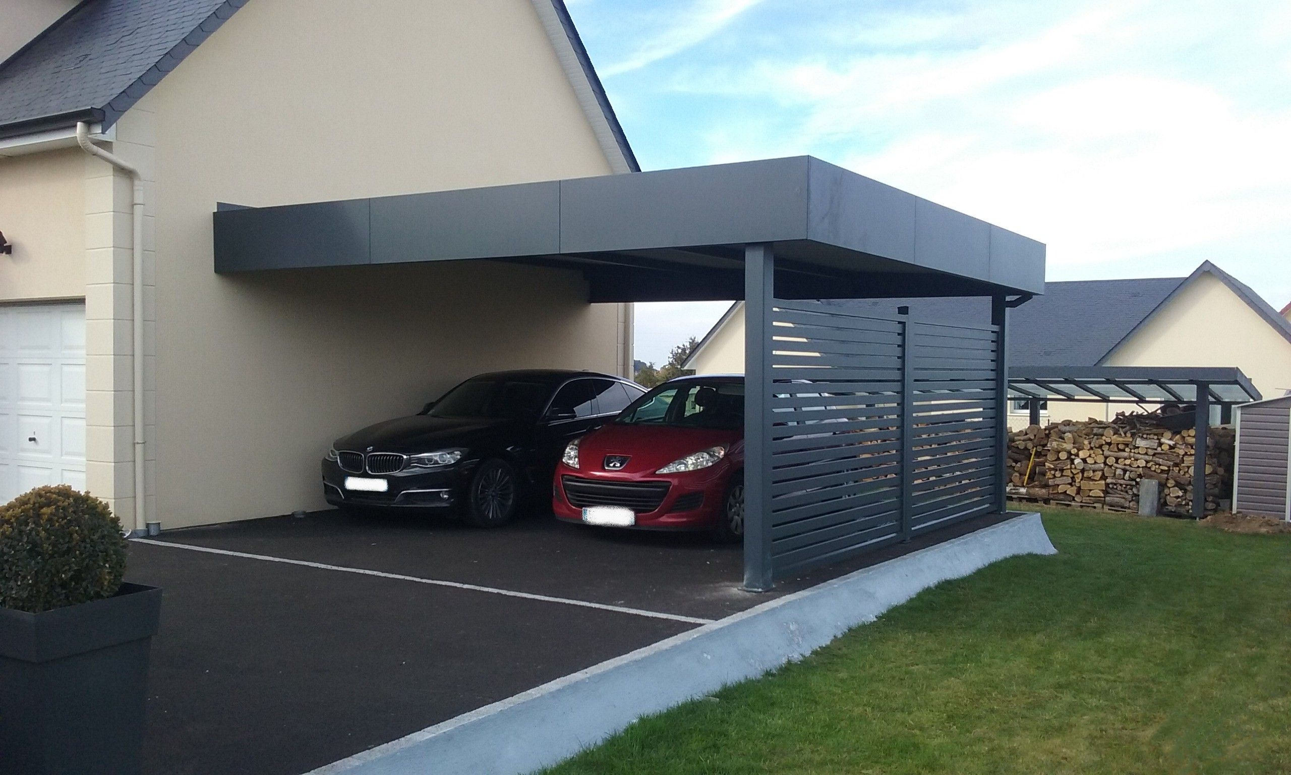 carport double adossé