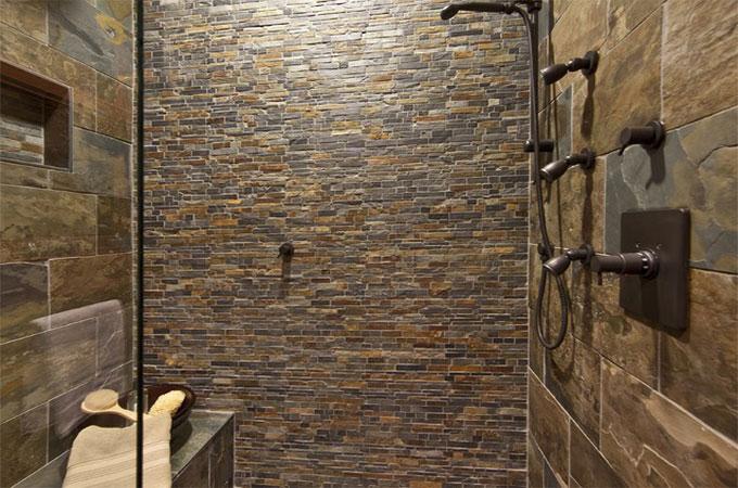 douche en pierre