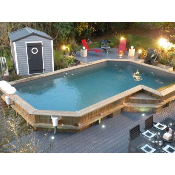 piscine hors sol semi enterrée